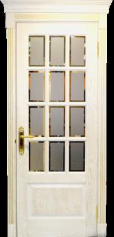 Дверь Альверо ДО Анна, Беленый дуб браш с золотом