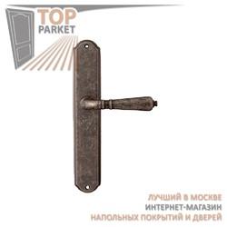 Ручка дверная на пластине Antik 130/131 Античное серебро