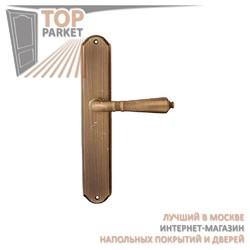 Ручка дверная на пластине Antik 130/131 Матовая бронза