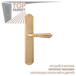 Ручка дверная на пластине Antik 130/131 Полированная латунь