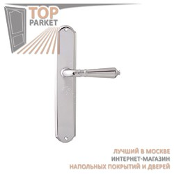 Ручка дверная на пластине Antik 130/131 Полированный хром