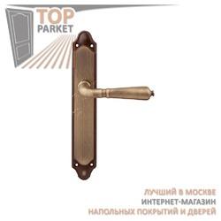 Ручка дверная на пластине Antik 130/158 Матовая бронза