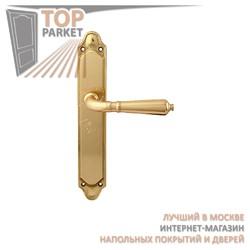 Ручка дверная на пластине Antik 130/158 Полированная латунь