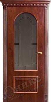 Дверь Арка Красное дерево гравировка Арка