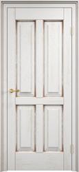 Дверь Д 15 Белый грунт патина орех