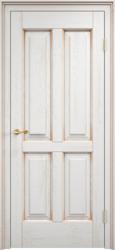 Дверь Дуб Д 15 Белый грунт патина Золото