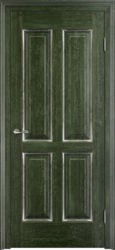 Дверь Д 15 Малахит патина Серебро с микрано