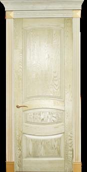 Дверь Альверо Аврора, Беленый дуб браш с золотом