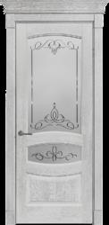 Дверь Альверо ДО Аврора, Беленый дуб браш с серебром