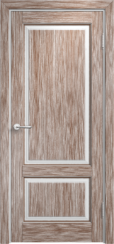 Дверь Мадера  Винтаж 13 Браш Белый грунт патина орех