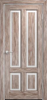 Дверь Мадера  Винтаж 15 Браш Белый грунт патина орех