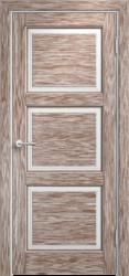 Межкомнатная дверь Мадера  Винтаж 17 Браш Белый грунт патина орех
