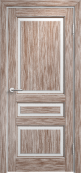 Дверь Мадера  Винтаж 5 Браш Белый грунт патина орех