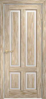 Дверь Мадера  Винтаж 15 Браш Белый грунт патина золото