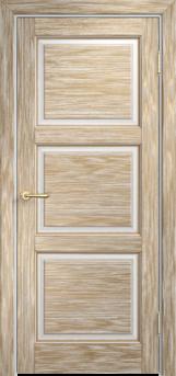 Дверь Мадера  Винтаж 17 Браш Белый грунт патина золото