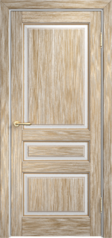 Дверь Мадера  Винтаж 5 Браш Белый грунт патина золото