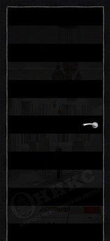 Дверь Нео Черная эмаль
