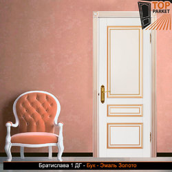 Межкомнатная дверь из массива бука Братислава 1 ДГ