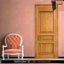 Межкомнатная дверь из массива дуба Братислава 1 ДГ