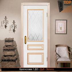 Межкомнатная дверь из массива дуба Братислава 1 ДО