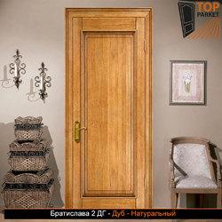 Межкомнатная дверь из массива дуба Братислава 2 ДГ