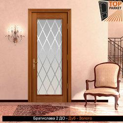 Межкомнатная дверь из массива дуба Братислава 2 ДО