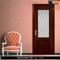 Межкомнатная дверь из массива бука Братислава 3 ДО