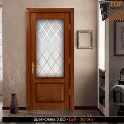 Межкомнатная дверь из массива дуба Братислава 3 ДО