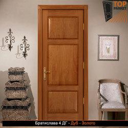 Межкомнатная дверь из массива дуба Братислава 4 ДГ