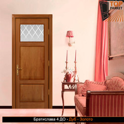 Межкомнатная дверь из массива дуба Братислава 4 ДО