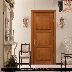 Межкомнатная дверь из массива дуба Братислава 5 ДГ