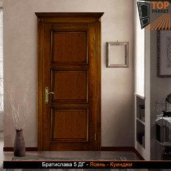 Межкомнатная дверь из массива ясеня Братислава 5 ДГ
