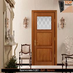 Межкомнатная дверь из массива дуба Братислава 5 ДО