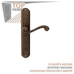 Ручка дверная на пластине Cagliari 225/131 Античная бронза