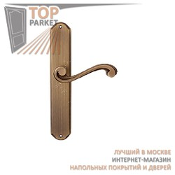 Ручка дверная на пластине Cagliari 225/131 Матовая бронза