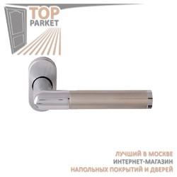 Ручка дверная на розетке Carina 287F Матовый никель