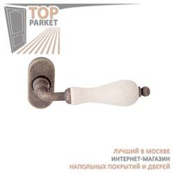 Ручка дверная на розетке Ceramic 179F Античная бронза