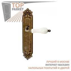 Ручка дверная на пластине Ceramic 179 + Керамика Античная бронза