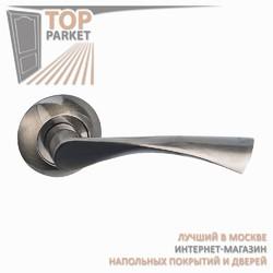 Ручка дверная на круглой накладке Classico A-01-10 Античная бронза