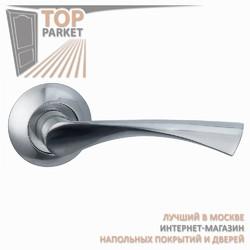 Ручка дверная на круглой накладке Classico A-01-10 Матовый хром