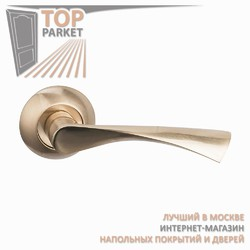 Ручка дверная на круглой накладке Classico A-01-10 Матовое золото