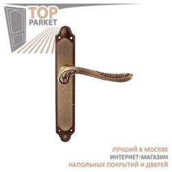 Ручка дверная на пластине Daisy 285/158 Матовая бронза