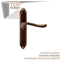 Ручка дверная на пластине Daisy 285/158 Затемненная бронза
