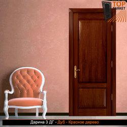 Межкомнатная дверь из массива дуба Дарина 3 ДГ