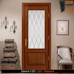 Межкомнатная дверь из массива дуба Дарина 3 ДО