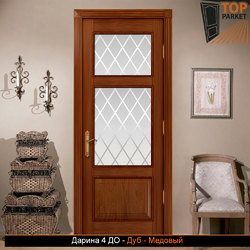 Межкомнатная дверь из массива дуба Дарина 4 ДО