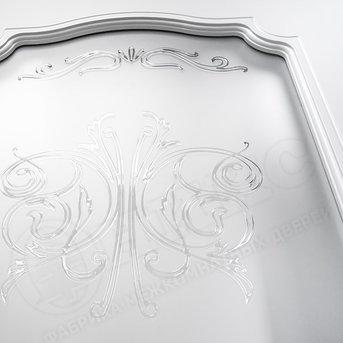 Дверь остекленная Венеция фрезерованное эмаль белая
