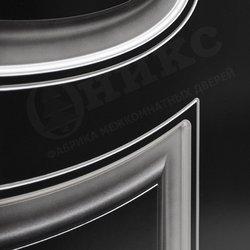 Дверь Эллипс фрезерованное эмаль черная