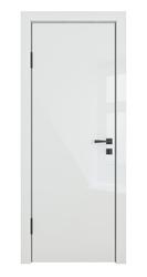 Межкомнатная дверь Дверная Линия ДГ-500 Белый Глянец кромка черная матовая