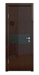 Межкомнатная дверь Дверная Линия ДО-501 Венге глянец стекло чёрное